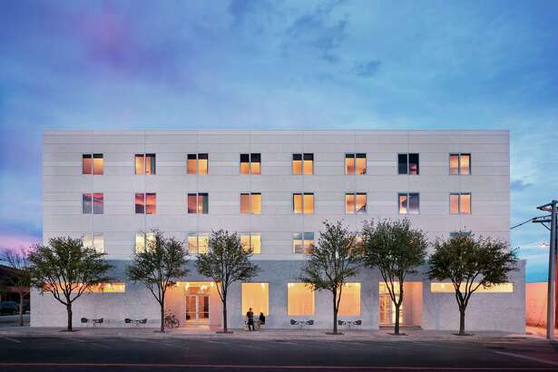 Exterior of the new Hotel Saint George in Marfa