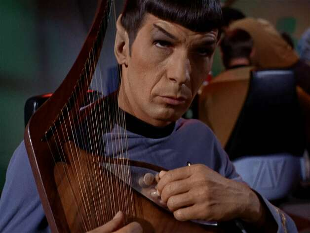 """Just be gladyou never saw Leonard Nimoy sing """"The Legend of Bilbo Baggins."""" Photo: Getty Images, CBS Via Getty Images"""