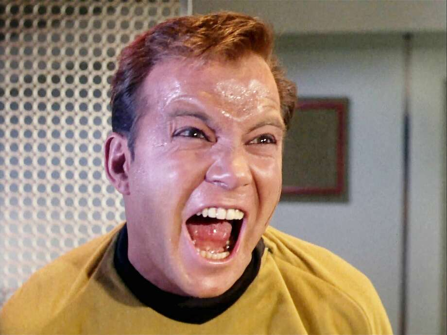 "No ever accusedWilliam Shatner of underacting on ""Star Trek."" Photo: Getty Images, CBS Via Getty Images"