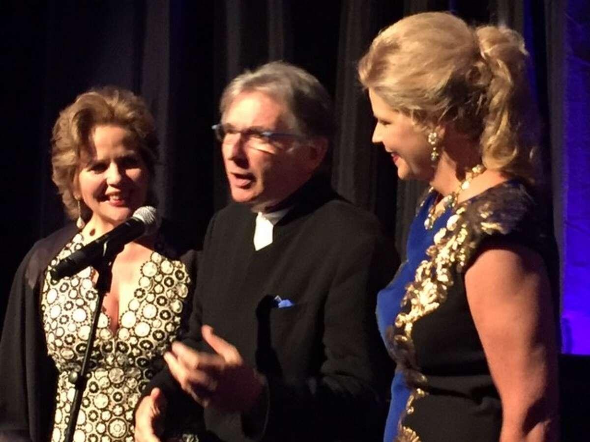 Renee Fleming, Michael Tilson Thomas and Susan Graham at Aria reception.
