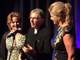 Renee Fleming, Michael Tilson Thomas and Susan Graham at Aria reception.