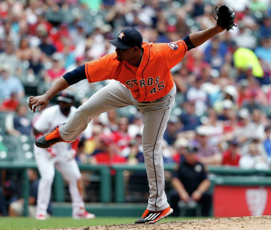 Houston Astros relief pitcher Michael Feliz delivers against the Cleveland Indians during the fifth inning of a baseball game Thursday, Sept. 8, 2016, in Cleveland. (AP Photo/Ron Schwane) Photo: Ron Schwane, Associated Press / AP 2016