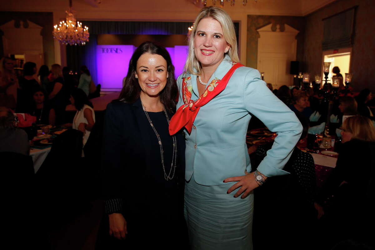 Rachel Meyer, left, and Katherine Lacey at the Junior League 30th anniversary Opening Style Show Thursday, September 8, 2016 in Houston.
