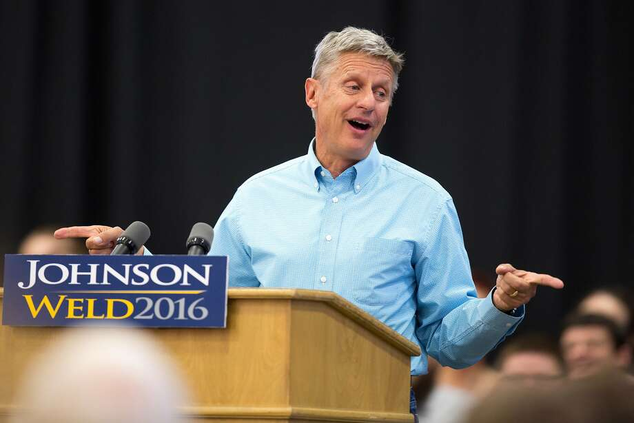 Libertarian presidential candidate Gary Johnson: trouble with a name. Photo: Scott Morgan, Associated Press