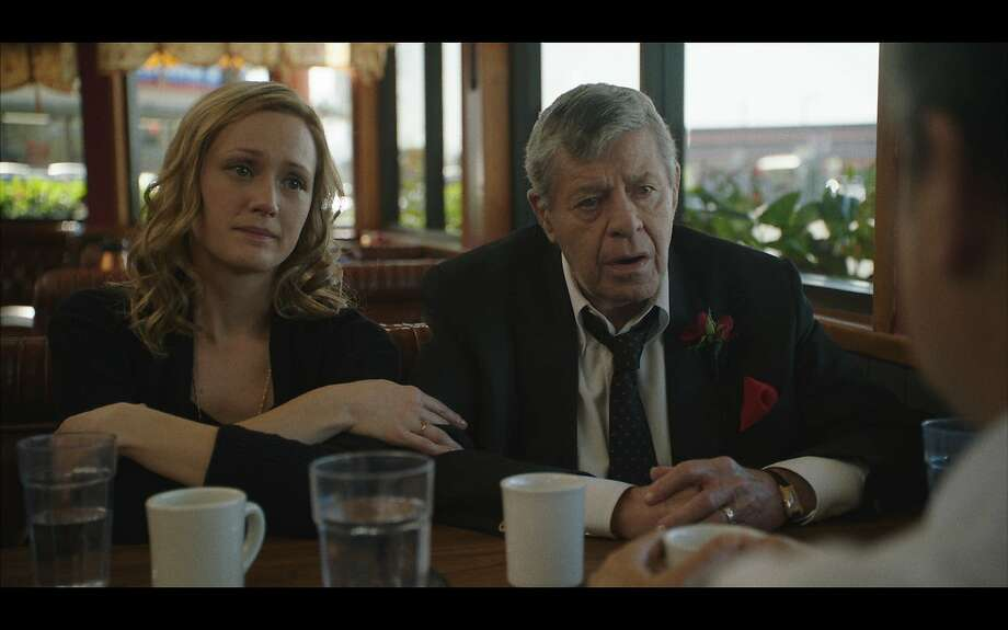 "Kerry Bishe and Jerry Lewis in ""Max Rose"" Photo: Lightstream Entertainment"