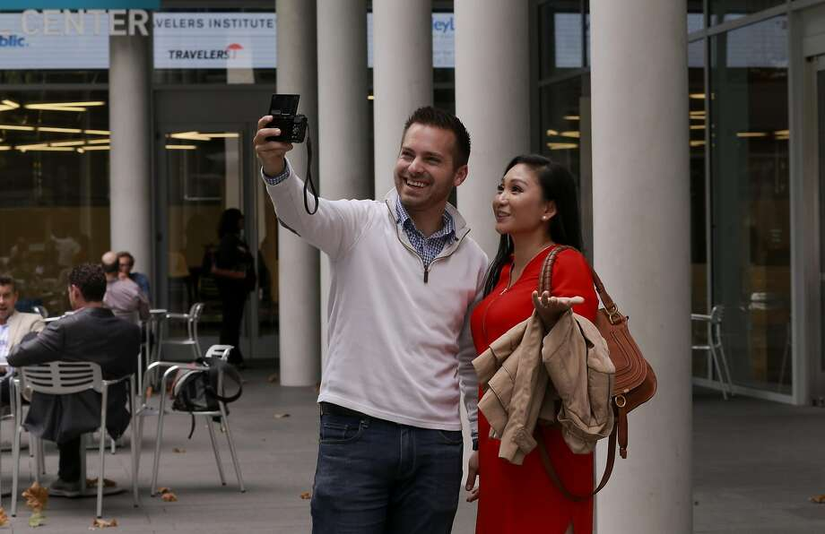 YouTube stars April & Justin of AprilJustinTV during the making of a video in downtown San Francisco, Calif., on Thursday September 8, 2016. YouTube remains the world's largest video library but the competition is fierce as aspiring video stars seek the best platforms to promote themselves. Photo: Michael Macor, The Chronicle