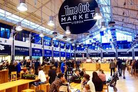 At the Mercado da Ribeira, diners can stroll through a fun selection of food stalls and enjoy a meal with enthusiastic locals.