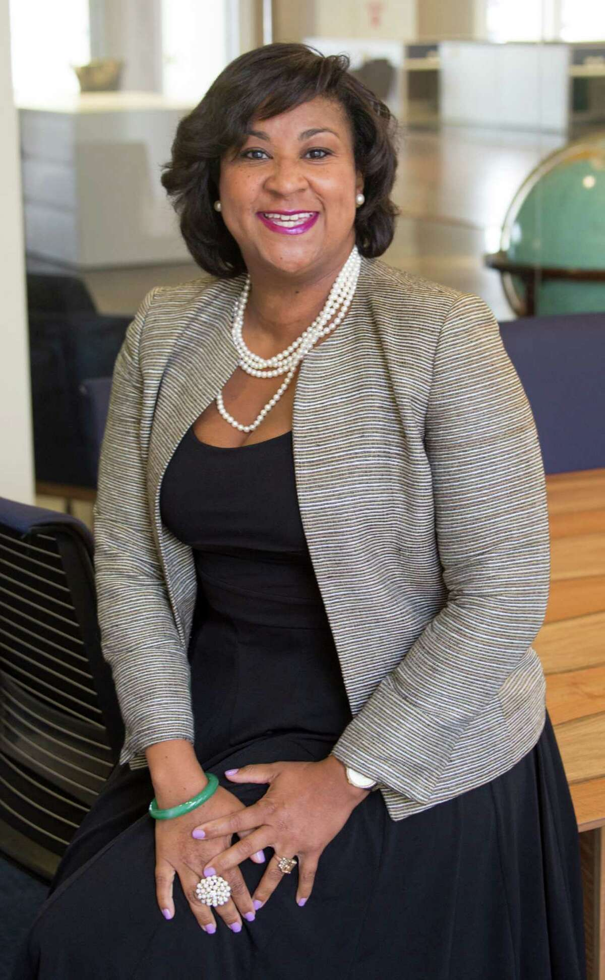 Alexandra Smoots-Hogan is a candidate for re-election to the 164th Civil District Court. (JeremyCarter/ Houston Chronicle)
