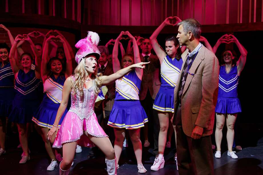 "Courtney Hatcher and Ray Ross in ""Legally Blonde The Musical."" Photo: Mark Kitaoka, Hillbarn Theatre"