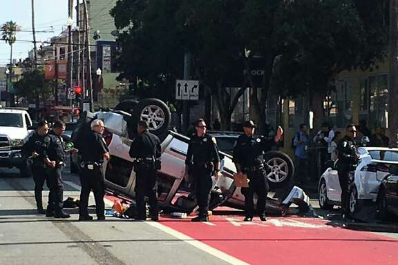 A crash at 16th and Mission streets blocked off traffic through the area Thursday, snarling the afternoon commute.