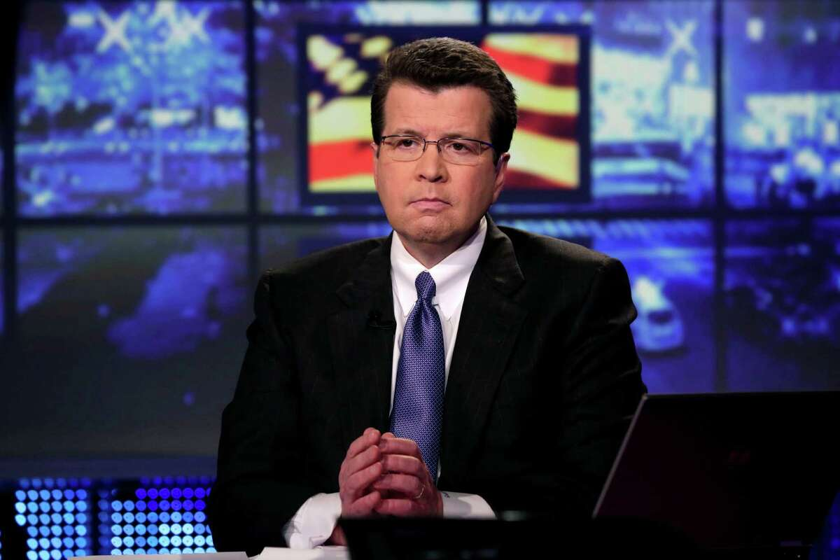 In this Tuesday, March 19, 2013 photo, Neil Cavuto, of the Fox Business Network, appears during a segment his program in New York. Cavuto, an anchor for Fox News Channel and Fox Business Network, is recovering from open heart surgery. Fox said Tuesday, June 21, 2016, that he's scheduled to return to hosting his trio of shows on the news and business channels later this year. (AP Photo/Richard Drew)