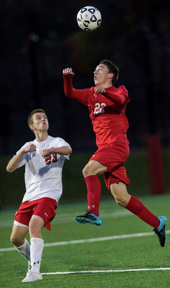 Greenwich High School's Alejandro MacLean, right, is not expected to replace Nick Bartels alone, but his offensive prowess will help. Photo: Mark Conrad / For Hearst Connecticut Media / Stamford Advocate Freelance