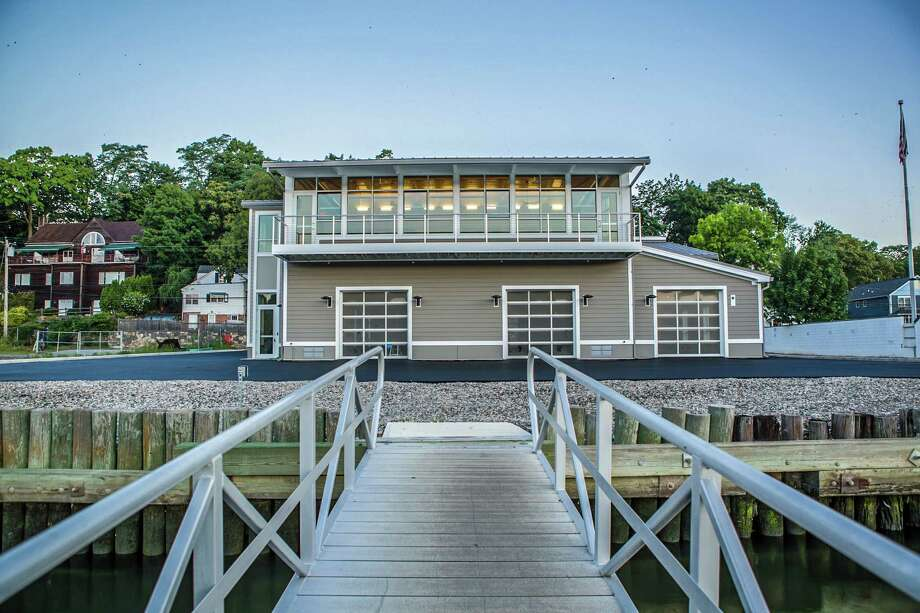 Brunswick's new boathouse was designed by Peterson Architects of Cambridge, Mass., one of the nation's leading architects of boathouses. Dedication ceremonies for the new facility, at 91 River Rd., will be held Saturday at 10 a.m.  The invitation-only gathering will honor parents, past parents, alumni, and friends whose gifts made construction possible. Photo: Wayne K Lin / Wayne K Lin / Brunswick School