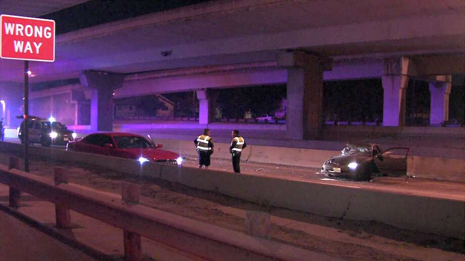 A drunken driver was arrested Sept. 9, 2016, following two head-on collisions on Interstate 10 near downtown. Photo: Ken Branca