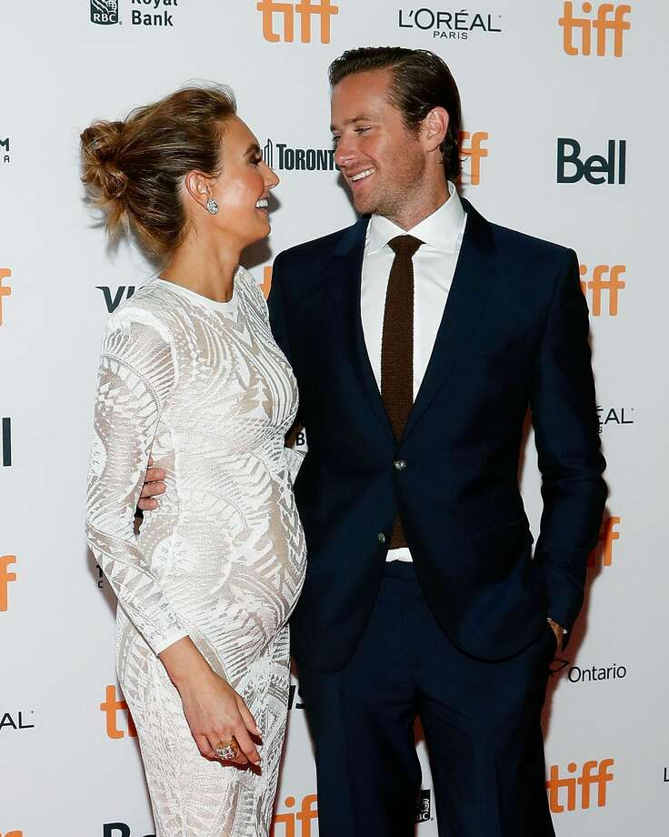San Antonio's Elizabeth Chambers and Armie Hammer announce she's expecting her second child at the world premiere of his movie, 'Free Fire' during the 2016 Toronto International Film Festival at Ryerson Theatre on September 7, 2016 in Toronto, Canada.  (Photo by Taylor Hill/FilmMagic) Photo: Taylor Hill/FilmMagic