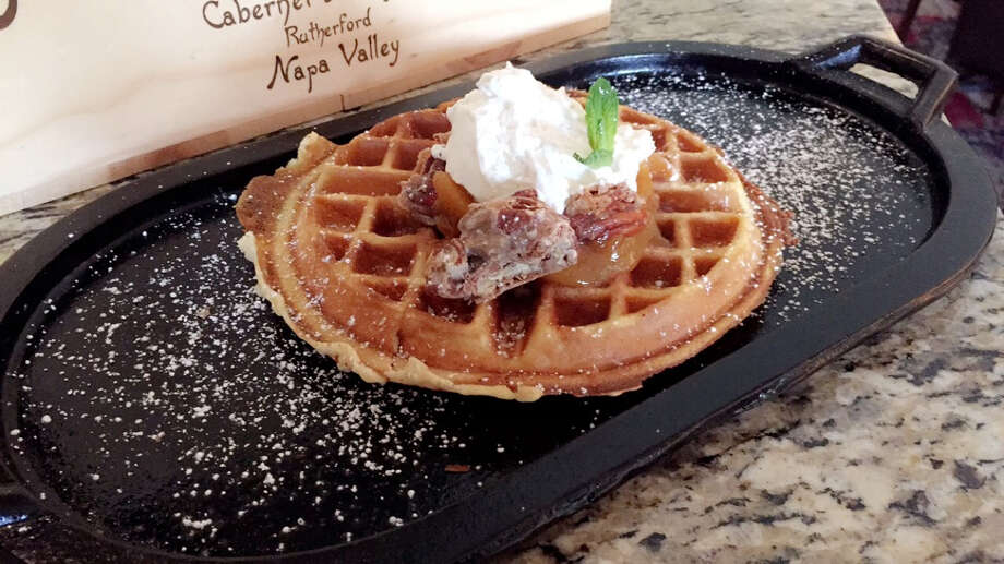 Extra thick pecan waffle at La Cascada at Tapatio Springs Hill Country Resort. Photo: Courtesy