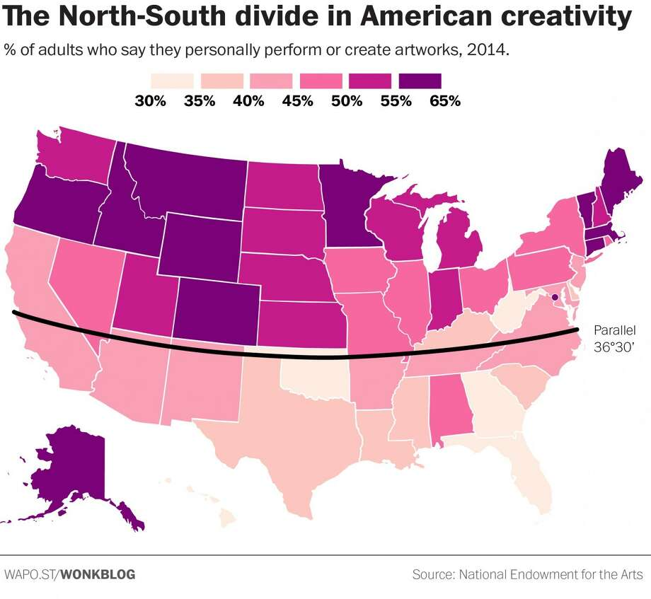 Are Southerners Less Creative Houston Chronicle - Us map mason dixon line