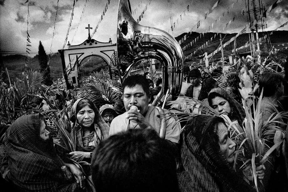 """Saint's Day Celebration, San Miguel Cuevas, Mexico"" is among 25 photographs on show. Photo: Matt Black"