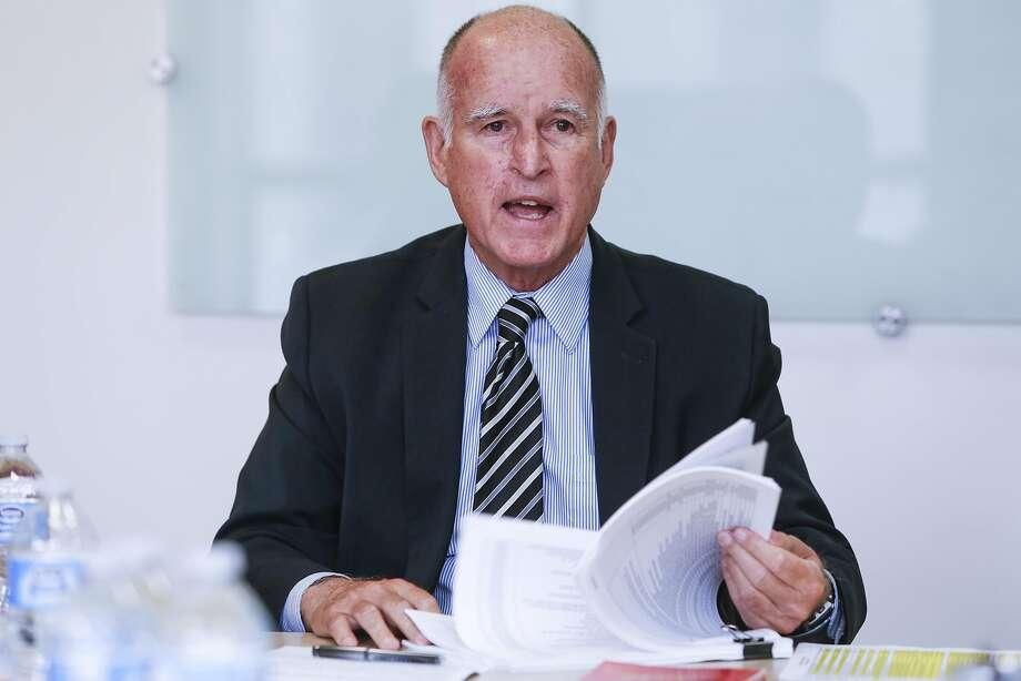 Gov. Jerry Brown speaks to the SF Chronicle Editorial Board about Proposition 57, which would change sentencing guidelines, on Friday, Sept. 9, 2016 in San Francisco, Calif. Photo: Russell Yip, The Chronicle