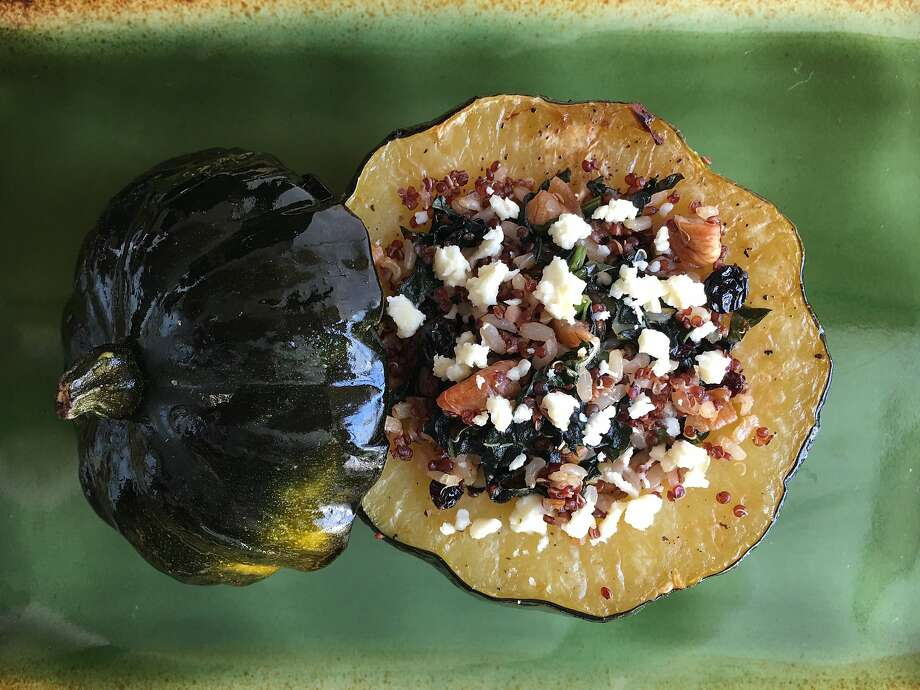 Roasted Acorn Squash Stuffed with Grains and Greens Photo: Sarah Fritsche