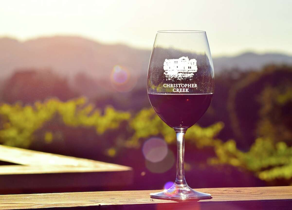 Christopher Creek Winery in Healdsburg is a scenic stop for wine tasting.