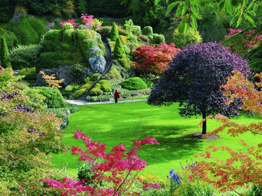 The 55 Acre Butchart Gardens North Of Victoria Are Located In A Former