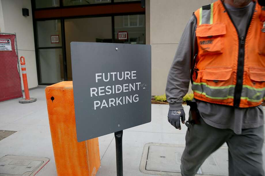 An outside sign at One Henry Adams still under construction on Friday, September 9, 2016, in San Francisco, Calif.   Some rental complexes are recently offering incentives to renters since the huge building boom in San Francisco. Photo: Liz Hafalia, The Chronicle