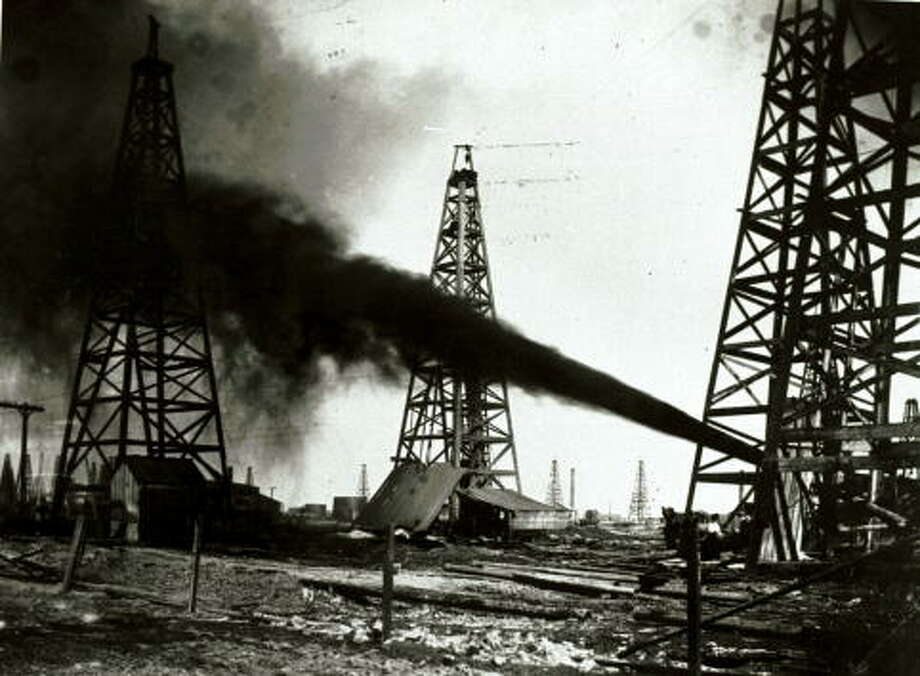 The U.S. military effort depended on domestic production, including from the Spindletop field near Beaumont, Texas. Photo: Getty Images