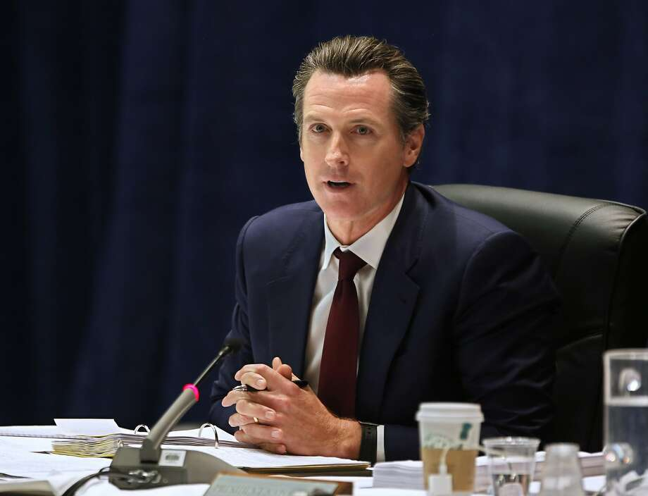 FILE- In this May 11, 2016 file photo California Lt. Gov. Gavin Newsom speaks during a meeting of the University of California Board of Regents in Sacramento, Calif. An online magazine opinion piece attributed to California Lt. Gov. Gavin News contains at least one paragraph that largely originally appeared on the website of the National Center for Lesbian Rights. (AP Photo/Rich Pedroncelli, File) Photo: Rich Pedroncelli, Associated Press