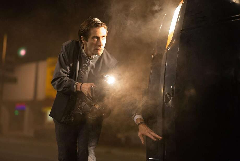 "This image released by Open Road Films shows Jake Gyllenhaal in a scene from the film, ""Nightcrawler."" (AP Photo/Open Road Films, Chuck Zlotnick) Photo: Chuck Zlotnick, Associated Press"