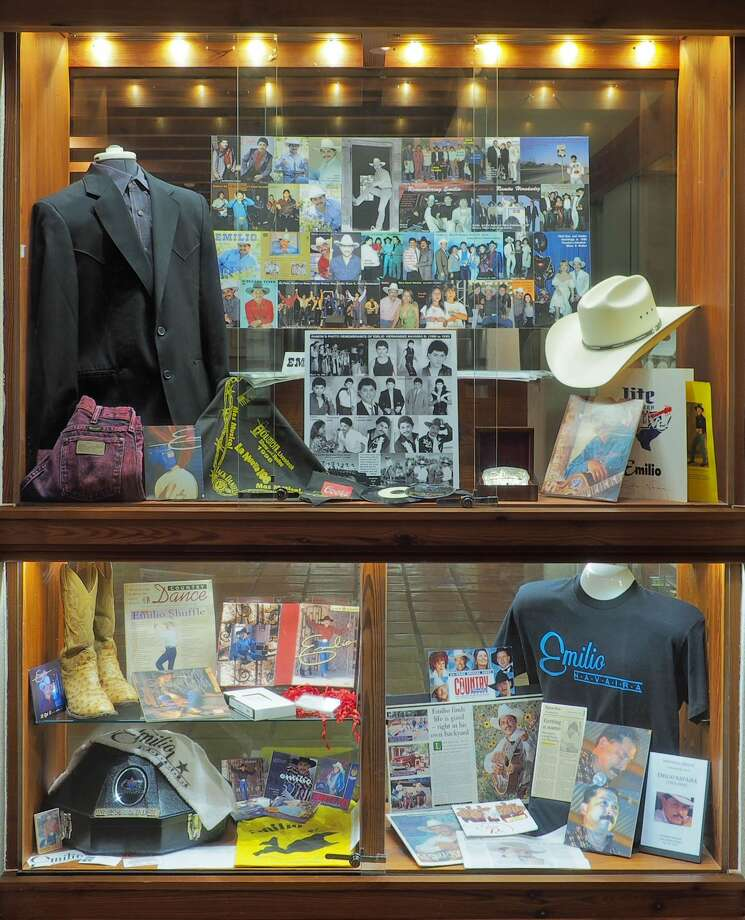 """""""Emilio Navaira: Tejano Music Icon,"""" a display of the singer's mementos and memorabilia, is an addition to The Wittliff Collections housed inside the campus' Albert B. Alkek Library that opened on Sept. 1. Photo: Jeremy D Moore"""