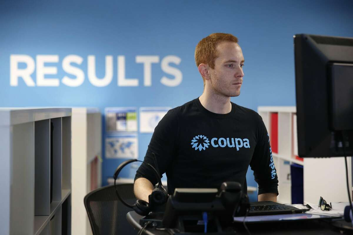 Steve Avila, works on a computer at Coupa headquarters on Friday, September 9, 2016 in San Mateo, California.