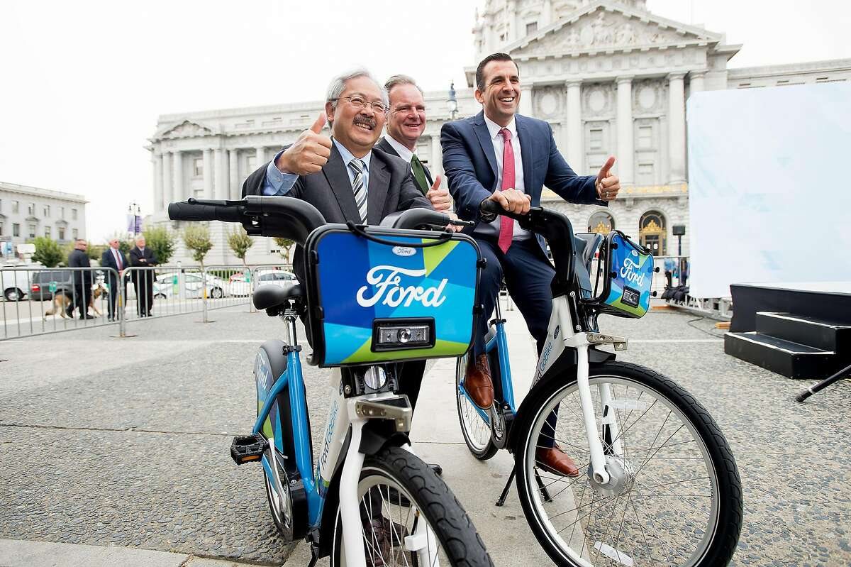 San Jose Mayor Sam Liccardo in 2016 (right) with the late San Francisco Mayor Ed Lee (left) and Santa Clara County Supervisor Dave Cortese.