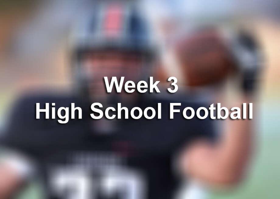 Week 3 High School Football Photo: Billy Calzada/San Antonio Express-News