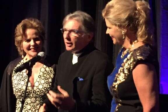 Renée Fleming, Michael Tilson Thomas and Susan Graham at Aria reception.