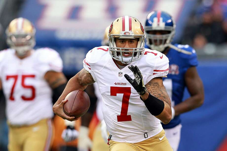Colin Kaepernick's jersey is still the top seller among NFL fans. Photo: Michael Heiman, Getty Images