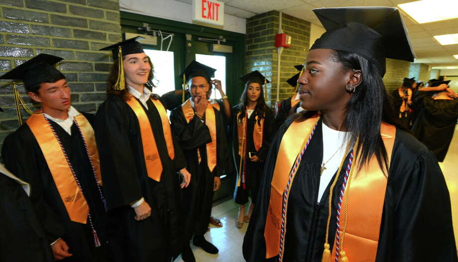 FILE — Academy of Information Technology and Engineering Class of 2016 commencement at the school in Stamford, Conn., on Tuesday, June 14, 2016. Photo: Matthew Brown / Hearst Connecticut Media / Stamford Advocate