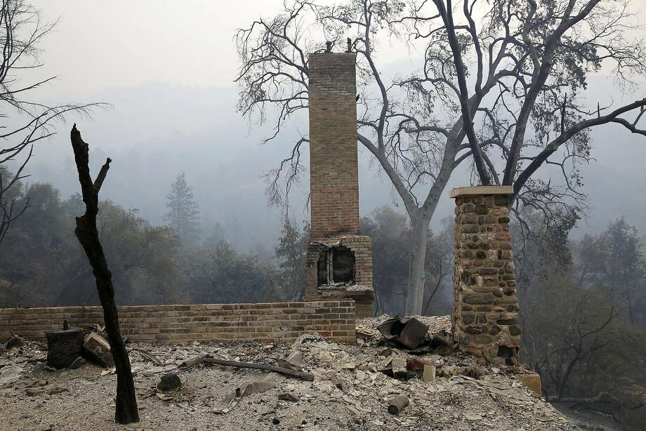 The remains of a building at Harbin Hot Springs near Middletown, California, on Monday, Sept. 14, 2015. Photo: Connor Radnovich, The Chronicle