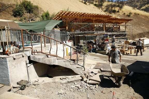 Frankie White works on construction at Harbin Hot Springs in Middletown, Calif., on Thursday, August 25, 2016.