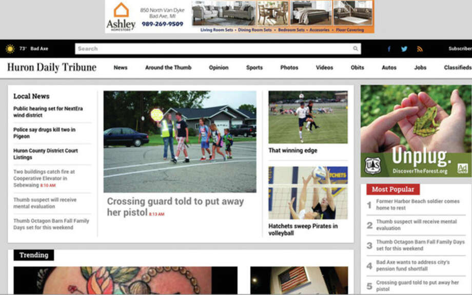 MichigansThumb.com, the website of the Huron Daily Tribune, has a new appearance and more features.