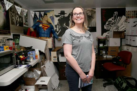 Comic book artist Raina Telgemeier published a semi-autobiographical graphic novel about getting braces called �Smile� and talks about her new novel,�Ghosts� on Wednesday, September 7, 2016,  in San Francisco, Calif.