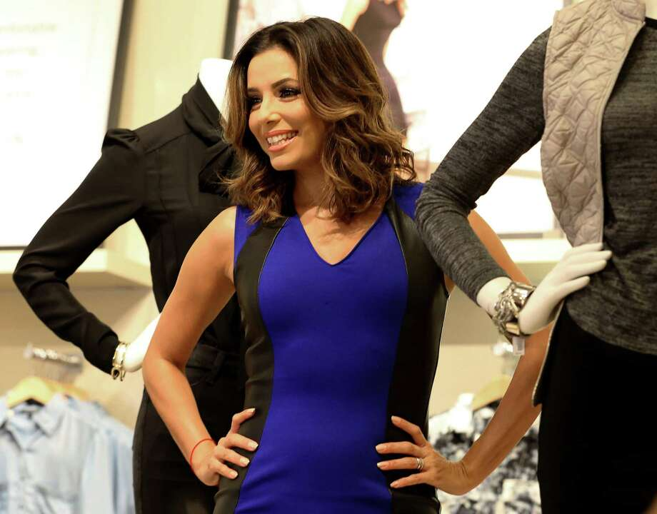 Actress Eva Longoria shows her new fashion line at The Limited at the Galleria on Friday. Photo: Yi-Chin Lee, Houston Chronicle / © 2015  Houston Chronicle