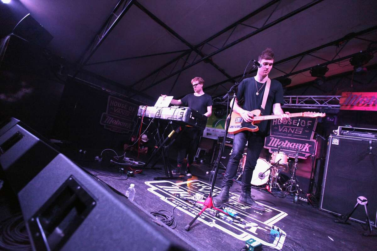 AUSTIN, TX - MARCH 19: Bob Moses performs onstage at the Domino Records showcase during the 2015 SXSW Music, Film + Interactive Festival at Mohawk Outdoor on March 19, 2015 in Austin, Texas. (Photo by Richard Mcblane/Getty Images for SXSW)