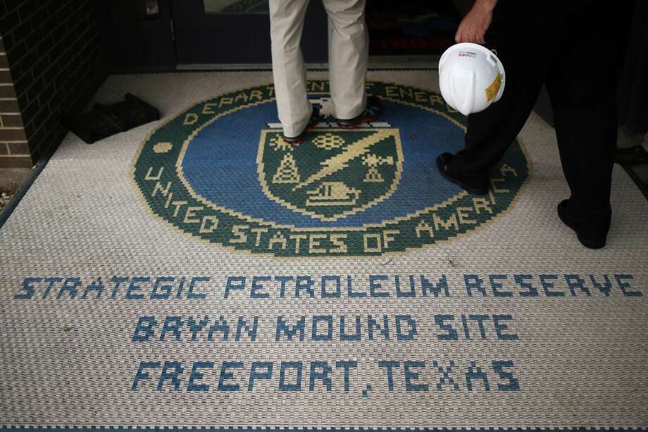 Personnel arrive at the U.S. Department of Energy's Bryan Mound Strategic Petroleum Reserve in Freeport, Texas, U.S., on Thursday, June 9, 2016. Congress has mandated that the department sell as much as 18 percent of the Strategic Petroleum Reserve, the world's largest supply of emergency crude oil, from 2018 through 2025 to offset some unrelated government expenses. Photographer: Luke Sharrett/Bloomberg Photo: Luke Sharrett / © 2016 Bloomberg Finance LP