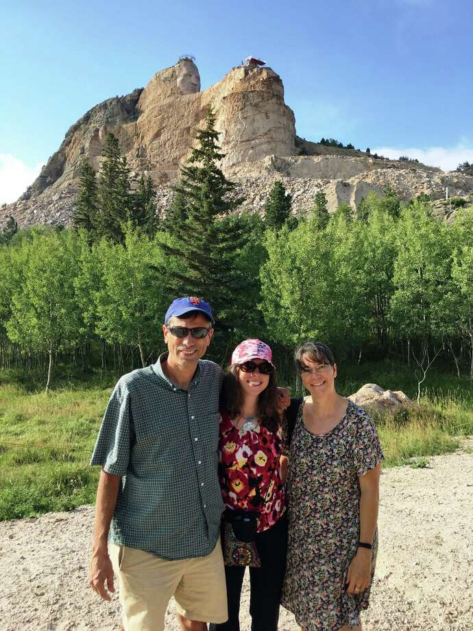 (From L to R) Three Sacred Heart Greenwich teachers, Bill Mottolese, Ellyn Stewart and Joyce Reed, traveled to South Dakota in August to volunteer at the Red Cloud Indian School. Photo: Contributed