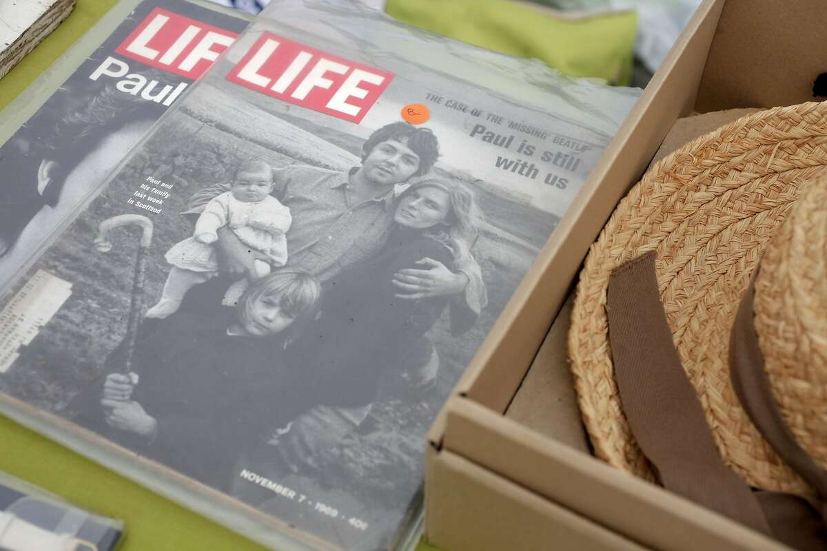 An old issue of Life Magazine featuring Paul McCartney at the 19th annual Duboce Triangle Tag Sale at Duboce Park in San Francisco, California on Saturday, September 10, 2016.
