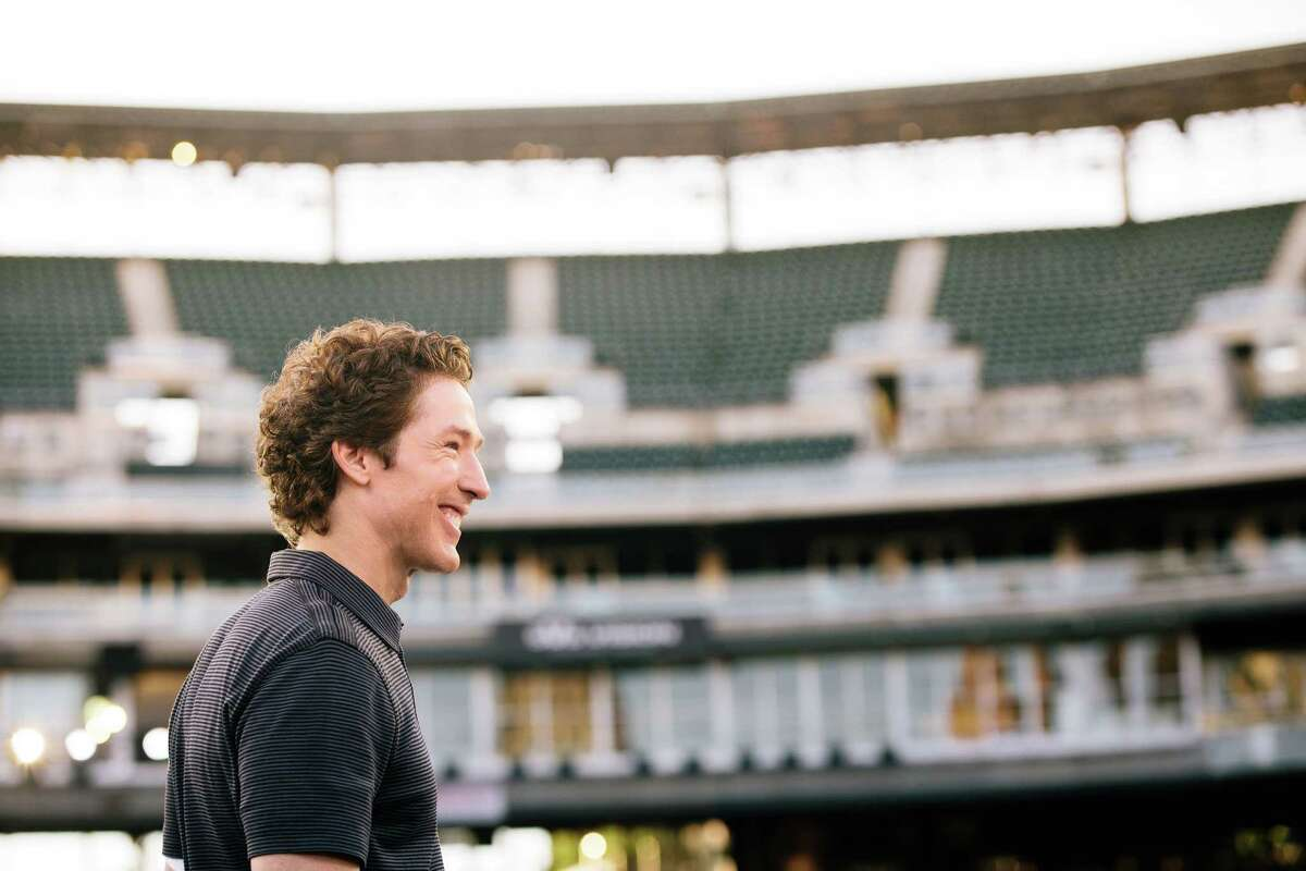 """Joel Osteen at Comerica Park in Detroit for """"America's Night of Hope."""""""