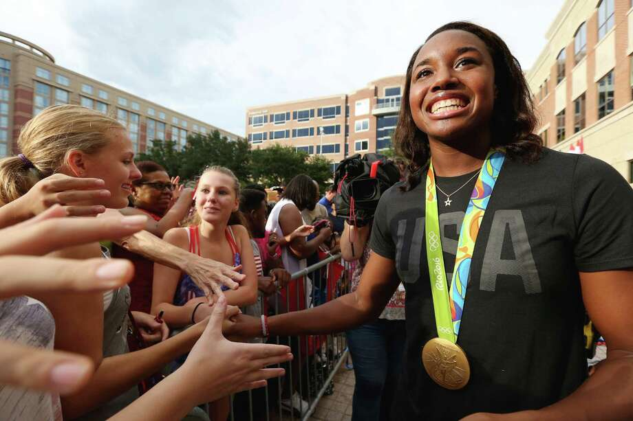 After her star turn at the Rio Olympics, gold medalist and swimming pioneer Simone Manuel has opted to turn professional, forgoing her remaining eligibility at Stanford. Photo: Yi-Chin Lee, Staff / © 2015  Houston Chronicle