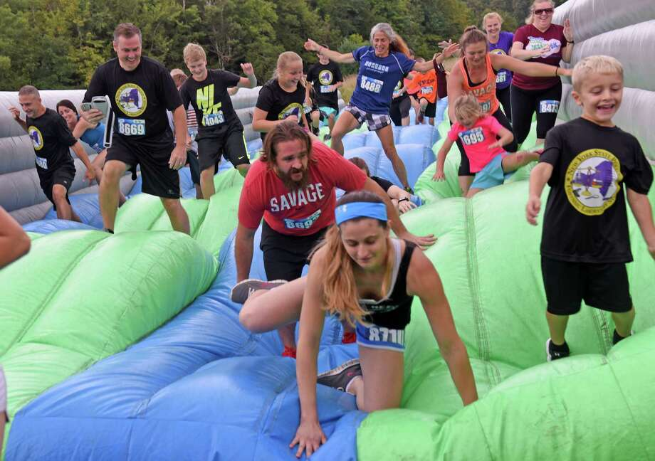 Looking for the best options to spend your weekend? Click through the slideshow for 25 ideas. Runners of all ages will compete Saturday in the Insane Inflatable 5K at Ellms Family Farm in Ballston Spa. Details.  Photo: Michael P. Farrell / 20037697A