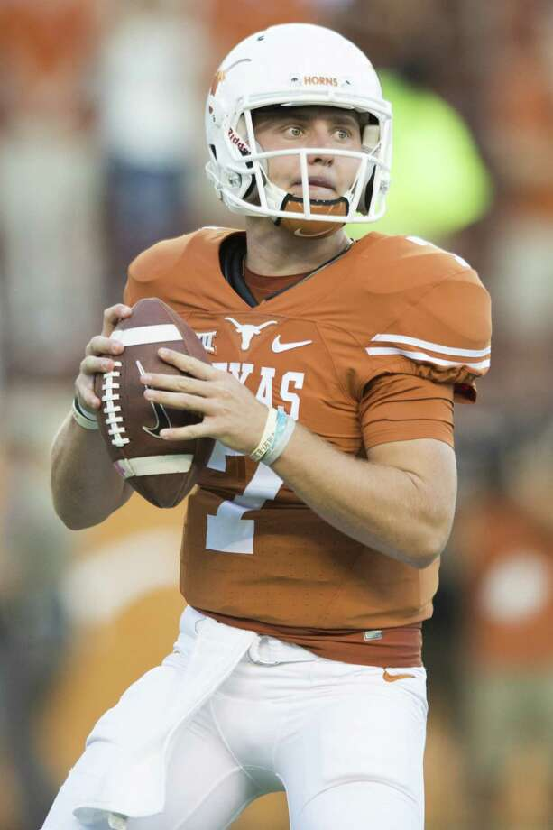 AUSTIN, TX - SEPTEMBER 10:  Shane Buechele #7 of the Texas Longhorns drops back to pass against the UTEP Miners during the first half on September 10, 2016 at Royal Memorial Stadium in Austin, Texas. Photo: Cooper Neill, Getty Images / 2016 Getty Images
